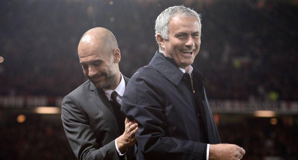 Mourinho y Pep Guardiola se enfrentarán en la Premier League . (Foto: AFP)