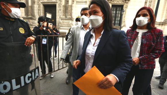 La candidata presidencial de Fuerza Popular, Keiko Fujimori, pidió una auditoría internacional a la segunda vuelta de las Elecciones 2021. (Foto: Alessandro Currarino /GEC)