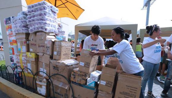 Puedes donar alimentos no perecibles, agua embotellada, pañales, etc. (Referencial)