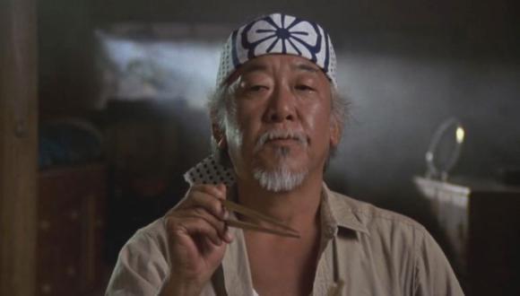 Pat Morita quería una quinta entrega de Karate Kid e iba a ser protagonizada por el señor Miyagi y Johnny Lawrence (Foto: Columbia)