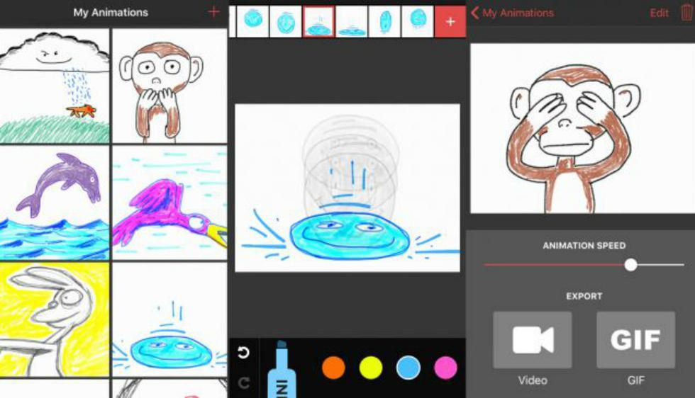 Animatic: Si te gustaba garabatear de pequeño esta aplicación es para ti. Utilizas herramientas simples para crear dibujos divertidos en distintas pizarras, y luego te permite animarlos como si fuera un corto animado. (iOS)