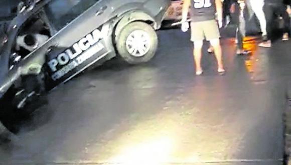 Tumbes: el conductor del patrullero policial habría perdido el control de la unidas por exceso de velocidad. (Foto: Captura de Video)