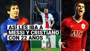 Así les iba a Lionel Messi y Cristiano Ronaldo cuando tenían la edad de Kylian Mbappé