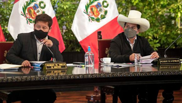 El presidente Pedro Castillo y el primer ministro Guido Bellido. (Foto: archivo Twitter PCM)