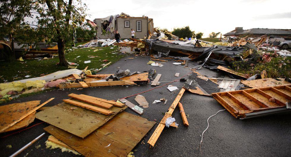 Estragos de lo que dejó el paso de un tornado en la ciudad de Ottawa, capital de Canadá. (Foto: AP)