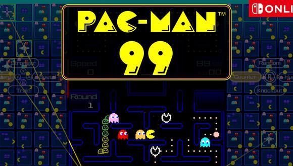 Pac-Man 99 está disponible en Nintendo Switch de manera gratuita para todos los usuarios que tengan la suscripción Nintendo Switch Online. (Imagen: Nintendo)