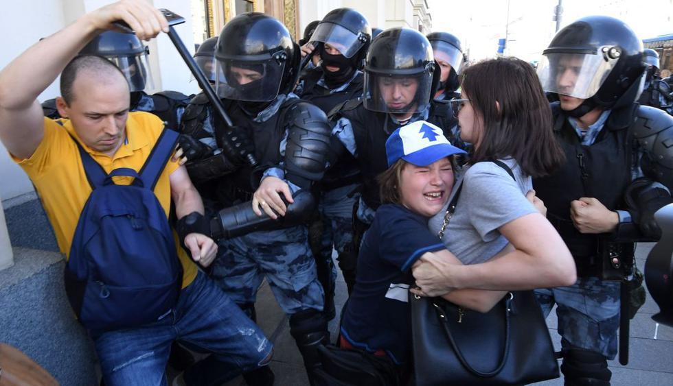 Así se desarrolló la masiva manifestación de la oposición en Rusia. (Foto: AFP)