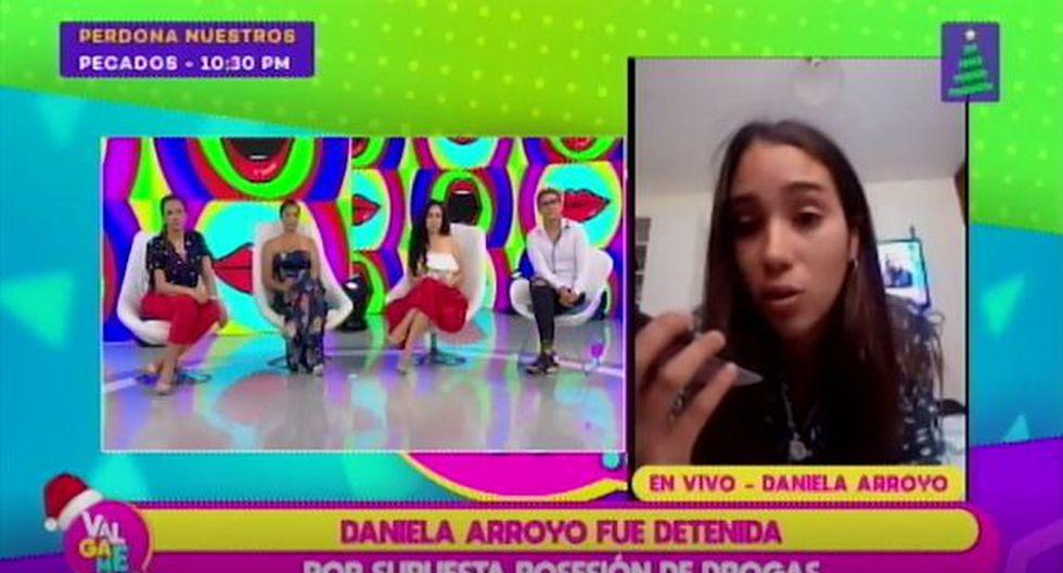 Daniela Arroyo negó posesión de droga, tras detención de la PNP. (Imagen: Latina)