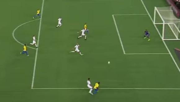Firmino abrió el marcador en el  amistoso Brasil-Estados Unidos. (Captura: YouTube)