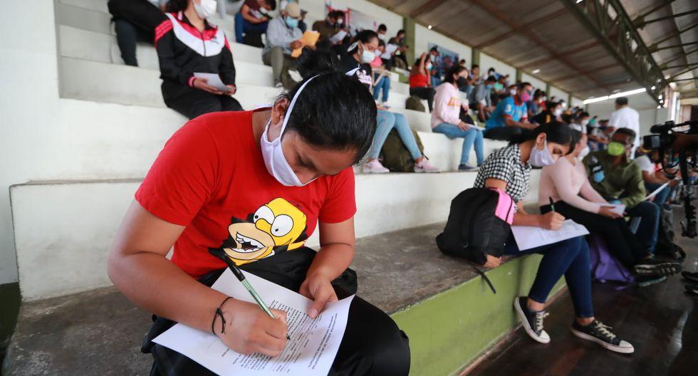 Reservistas del Ejército Peruano se presentan a sus cuarteles para apoyar la lucha contra el coronavirus.  (Foto: Lino Chipana/GEC)