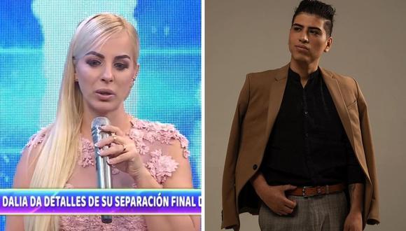 Dalia Durán y John Kelvin tuvieron fuertes palabras al momento de la llamada en vivo en el programa de Magaly Medina. (Foto: Instagram @johnkelvinoficial / Captura ATV)