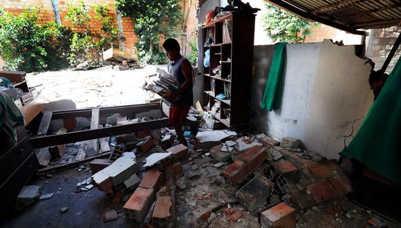 Terremoto en Loreto: El distrito del Sauce, en Tarapoto, es otra de las zonas afectadas. (Rolly Reyna)