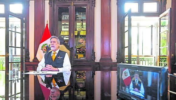 Balance. A dos meses de dejar la Presidencia, Francisco Sagasti destacó los valores democráticos. (Foto: Presidencia Perú)