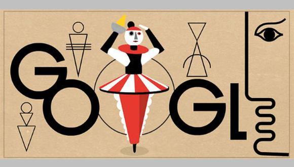 Oskar Schlemmer nació el 4 de septiembre de 1888 en Stuggart, Alemania. Hoy, Google lo recuerda con un doodle animado. (Foto: Google)