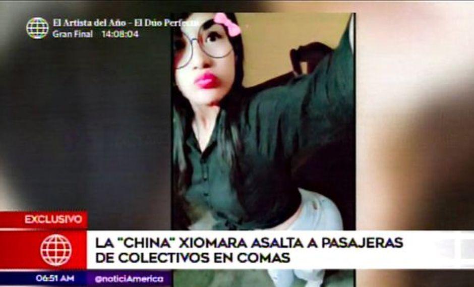 Acusan a la 'China Xiomara' de liderar banda de falsos colectiveros. (Foto: Captura de video / América Noticias)