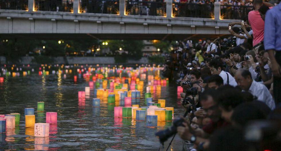 Prensa de todo el mundo se dio cita en el Parque de la Paz de Hiroshima para registrar las consecuencias de esta luego de 69 años. (EFE)