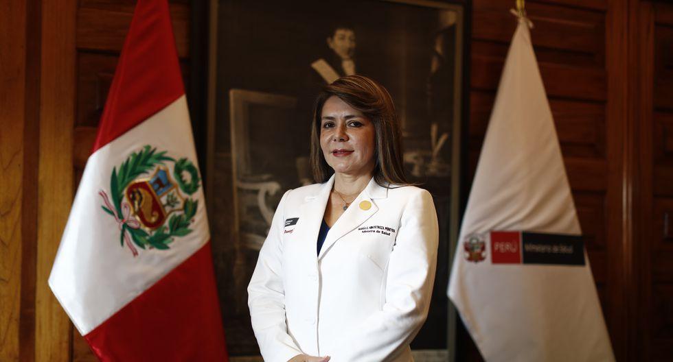 Ministra de Salud Elizabeth Hinostroza. (Créditos: César Campos/GEC)