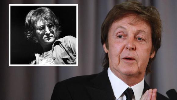 McCartney recordó a Lennon. (AP)