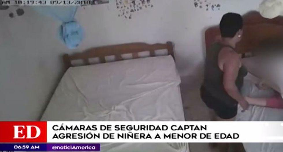 La menor no podía defenderse. (Foto: Captura/América Noticias)