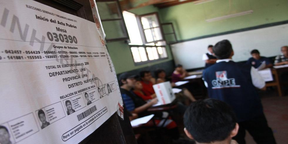 Según norma publicada en El Peruano, personal de la ONPE tiene que entregar los ambientes utilizados en buen estado. (Foto: USI)