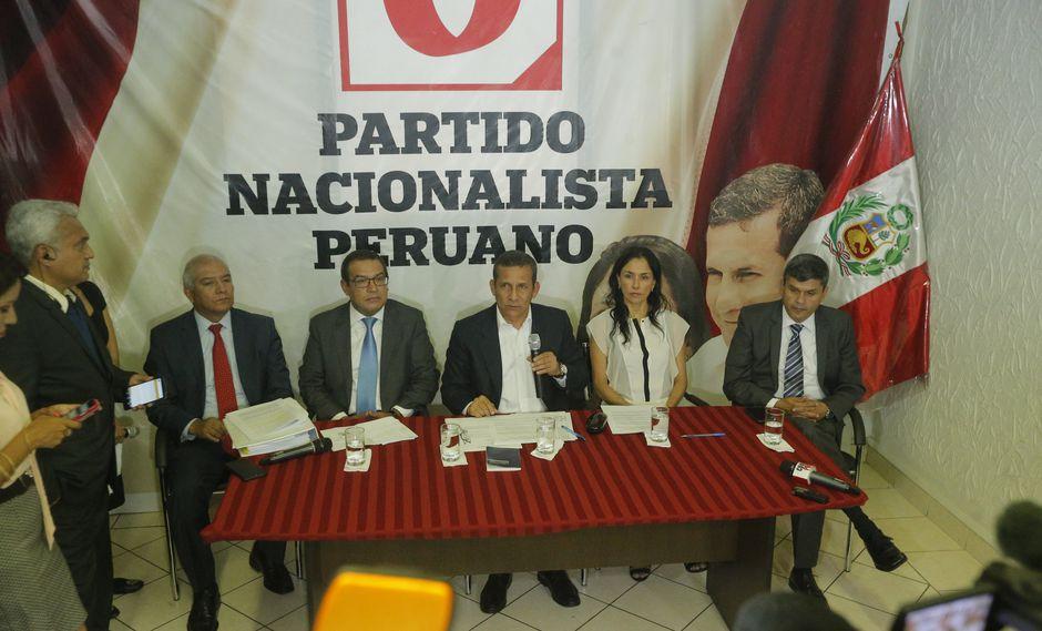 El fiscal Germán Juárez pidió la disolución del Partido Nacionalista en caso se declare culpables a sus líderes (GEC).