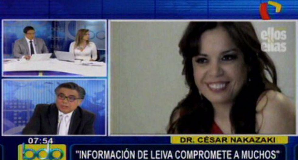 Milagros Leiva no fue estafada por Martín Belaunde Lossio, según Nakasaki. (Panamericana)