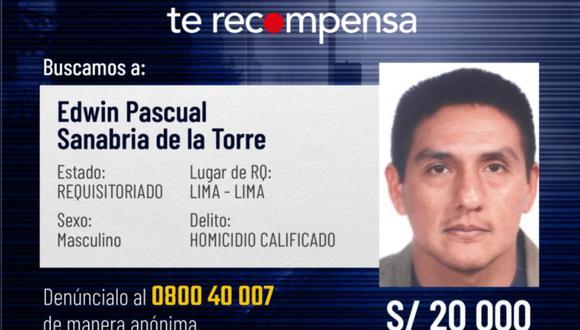 Edwin Pascual Sanabria de la Torre está prófugo desde el 2017, en que fue condenado a 20 años de cárcel por matar a su hermana.