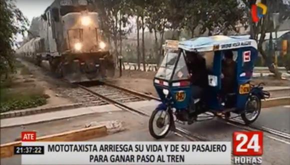 El hecho que casi termina en tragedia ocurrió en la avenida San Juan. (24 Horas)