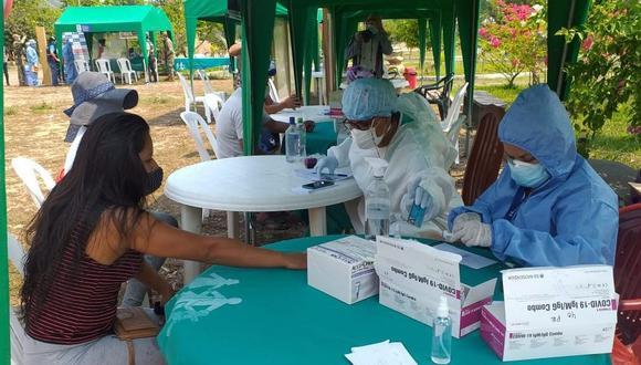 Junín: Al menos dos mil pobladores de las comunidades nativas del Vraem se beneficiaron con la aplicación de pruebas de descarte de COVID-19 y otras enfermedades a través de campaña médica realizada por el Minsa. (Foto Minsa)