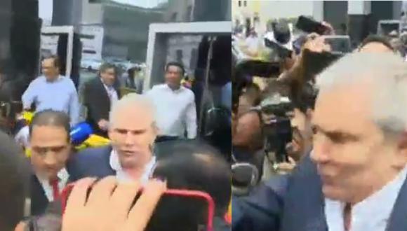 Así reaccionó Luis Castañeda al ser consultado sobre si recibió dinero de OAS y Odebrecht.