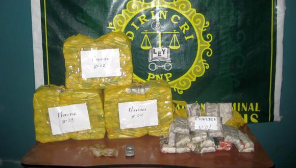 La droga fue incautada por las autoridades. (USI/Referencial)