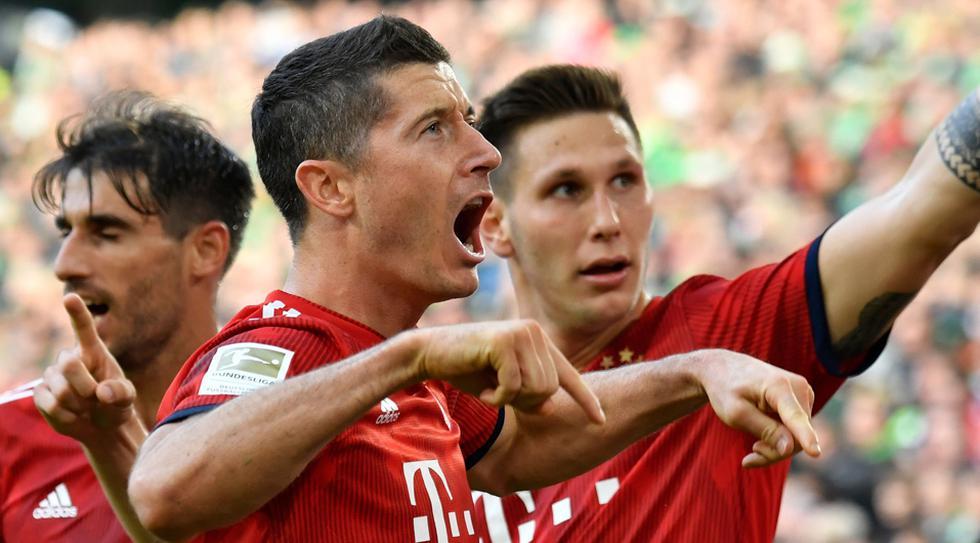 Robert Lewandoski llegó a su gol número 185 en la Bundesliga. (Foto: AFP / Video: Fox Sports)