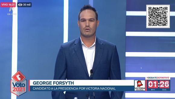 George Forsyth, candidato de Victoria Nacional. (Captura: América TV)