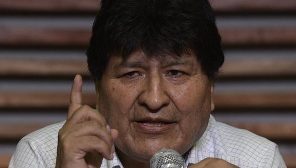 El expresidente de Bolivia, Evo Morales, ofrece una conferencia de prensa en Buenos Aires (Argentina), el 19 de octubre de 2020. (AFP / Juan MABROMATA).