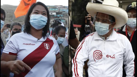 Keiko Fujimori y Pedro Castillo disputarán la Presidencia en la segunda vuelta de las Elecciones 2021 el próximo 6 de junio. (Fotos: Archivo El Comercio)