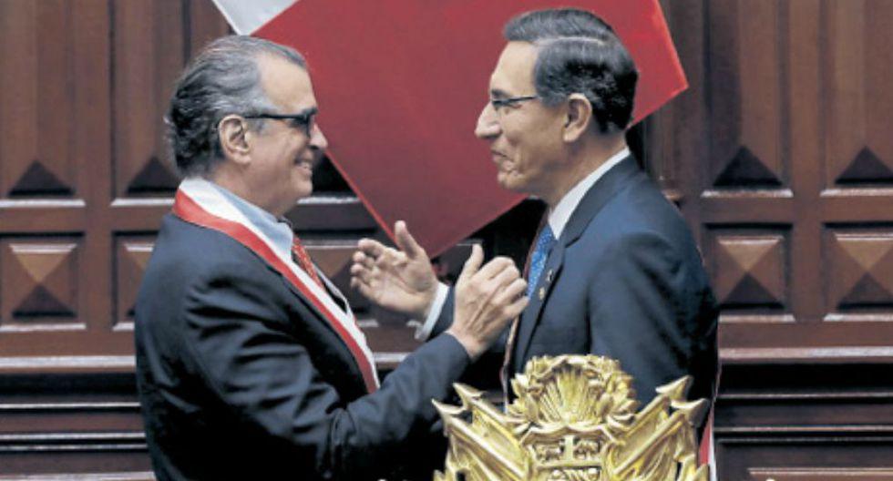 En agenda. Martín Vizcarra y Pedro Olaechea deberán fijar los temas que abordarán en su eventual encuentro para el diálogo. (GEC)