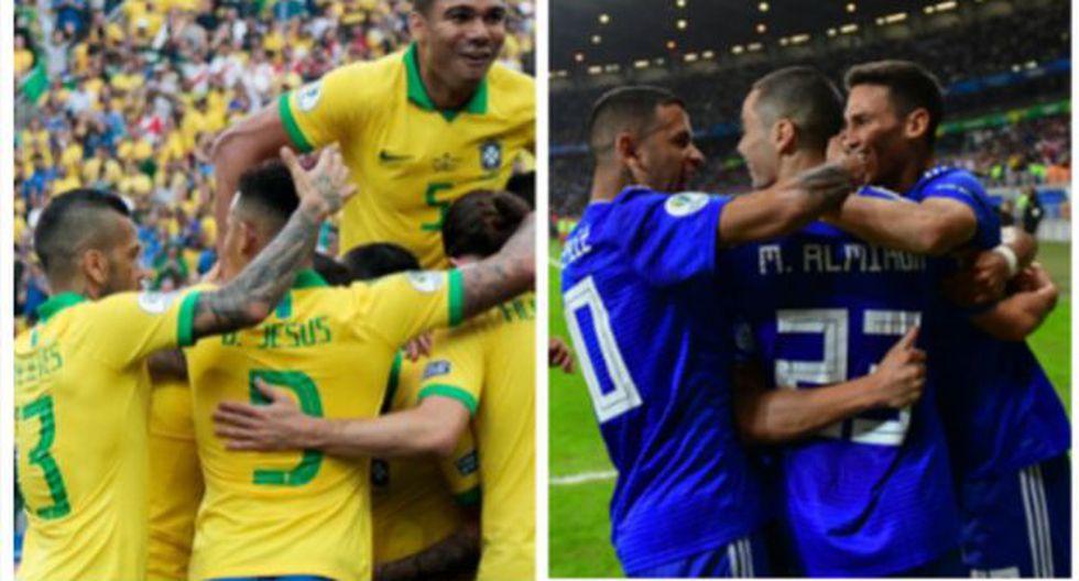 Brasil y Paraguay se medirán por el pase a semifinales de la Copa América 2019. (Foto: AFP)