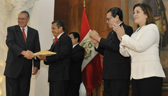 Allan Wagner entregó fallo al presidente Ollanta Humala. (Difusión)