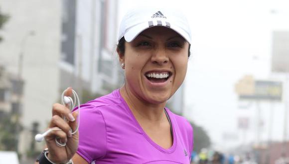 Tula Rodríguez participó en maratón. (David Vexelman)