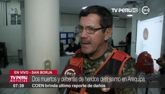General EP Jorge Chavez, jefe del Indeci.