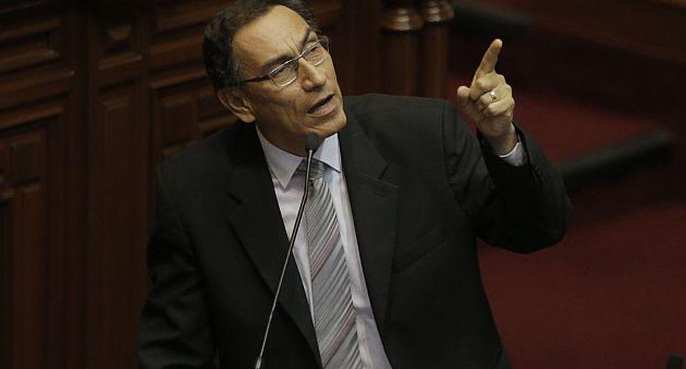 Martín Vizcarra lamentó decisión de la bancada fujimorista.(Atoq Ramon)