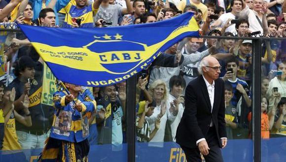 Bianchi fue recibido como ídolo en La Bombonera. (Reuters)