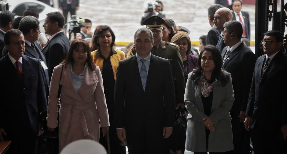 Del Solar llegó al Congreso acompañado de su Gabinete Ministerial. (Foto: Anthony Niño de Guzmán / GEC)
