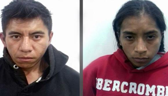 Pablo Rodríguez, padrastro y Yadira Médica, madre de 'Calcetitas Rojas', la niña de 4 años que a la que violaron y asesinaron en México.   Policía de México.