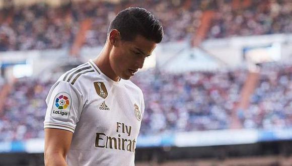 James Rodríguez quedó fuera de la convocatoria del Madrid-Alavés. (Foto: EFE)