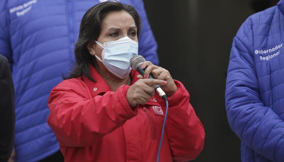 """La primera vicepresidenta de la República también señaló que el comunicado de Perú Libre, respecto a que no dará el voto de confianza al Gabinete Ministerial que preside Mirtha Vásquez, """"ha sido una sorpresa"""" para ella y los ministros. (Foto: Archivo GEC)"""