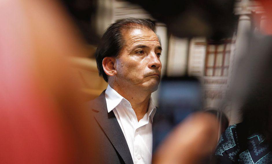 Wilbert Rozas. Vocero del Frente Amplio. (Perú21)
