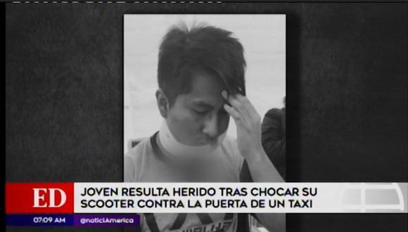 El joven universitario está internado en una clínica local. Sus familiares exigen que el taxista cubra los gastos. (América Noticias)