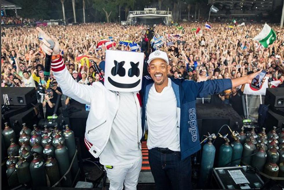 Ultra Music Festival: Will Smith volvió a cantar 'Miami' tras 20 años de estrenar este tema. (Twitter/Marshmello)