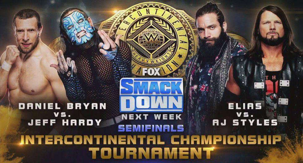 La jornada estará marcada por las decisivas peleas semifinales del Campeonato Intercontinental: Hardy vs. Ryan y AJ Styles vs. Elias. (Foto: WWE)